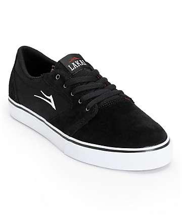 Lakai Fura Black & White Skate Shoes