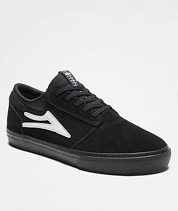 Lakai Griffin Black & Black Skate Shoes