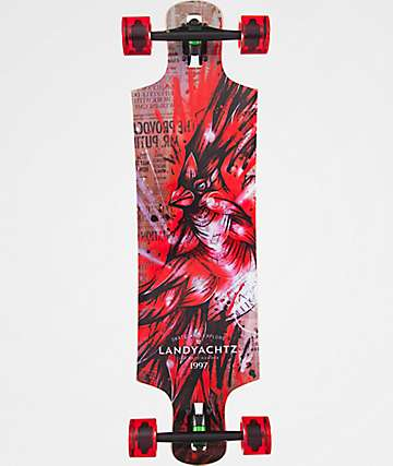 "Landyachtz Hammer Drop Maple Cardinal 36"" Longboard Complete"