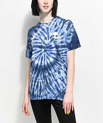 Lunachix Alien Blue Tie Dye T-Shirt