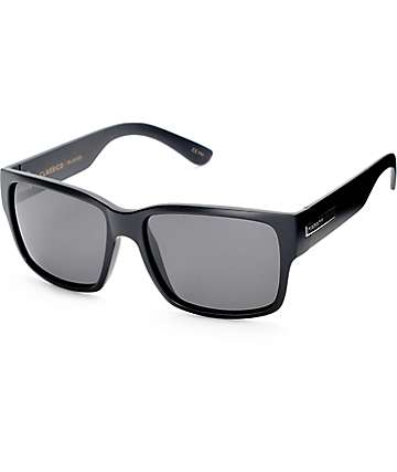 Madson Classico Matte Black & Grey Polarized Sunglasses