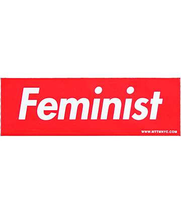 Married To The Mob Feminist Red Box Sticker