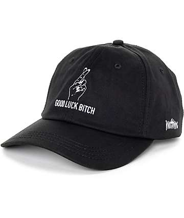 Married To The Mob Good Luck Bitch Black Baseball Hat