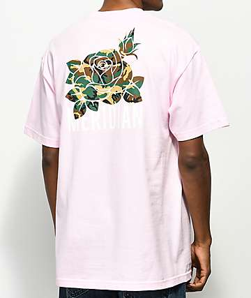 Meridian Skateboards Camo Rose Light Pink T-Shirt