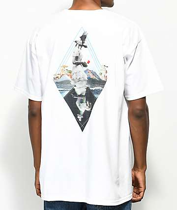 Meridian Skateboards Waves White T-Shirt