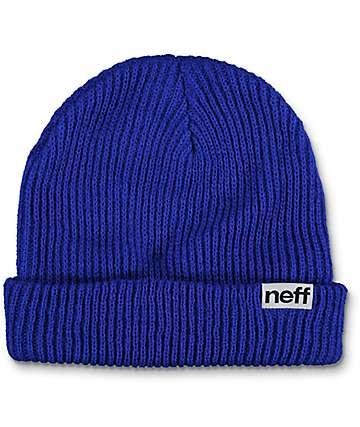 Neff Blue Fold Beanie