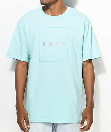 Neff Box Logo Turquoise T-Shirt