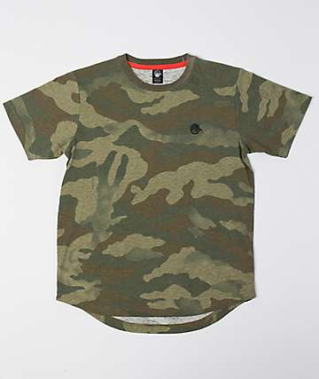 Neff Boys Scallop Camo T-Shirt