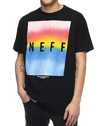 Neff Colby Print Black T-Shirt