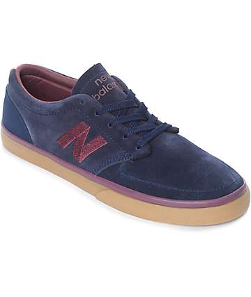 New Balance Numeric 345 Navy & Burgundy Suede Shoes