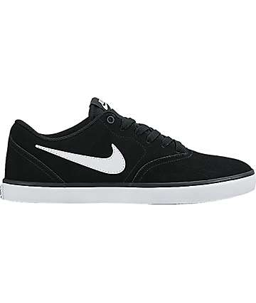 Nike SB Check Solarsoft Canvas Black & White Shoes