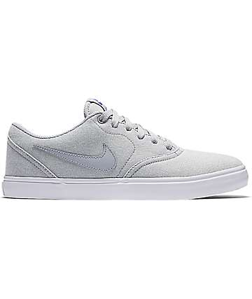 Nike SB Check Solarsoft Canvas Grey Shoes