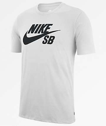Nike SB Dri-Fit SB Logo White T-Shirt