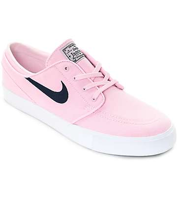 Nike SB Janoski Prism Pink & Navy Canvas Skate Shoes