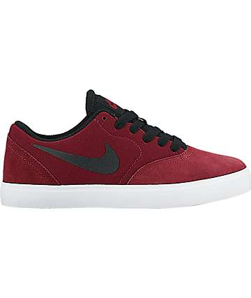 Nike SB Kids Check Team Red Shoes