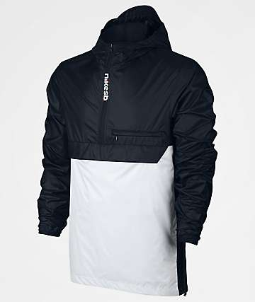 Nike SB Packable Black & White Anorak Jacket