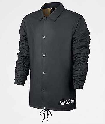 Nike SB Shield Icon Quilt Black Coaches Jacket