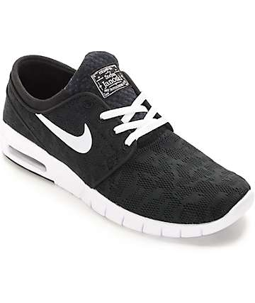 Nike SB Stefan Janoski Air Max Black & White Shoes