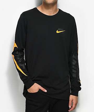 Nike SB Tonal Futura Black & Orange Long Sleeve T-Shirt