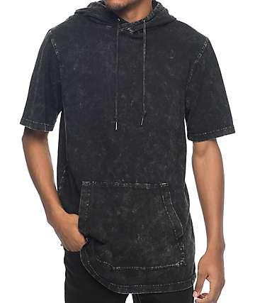 Ninth Hall Atmosphere Black Washed Short Sleeve Hoodie