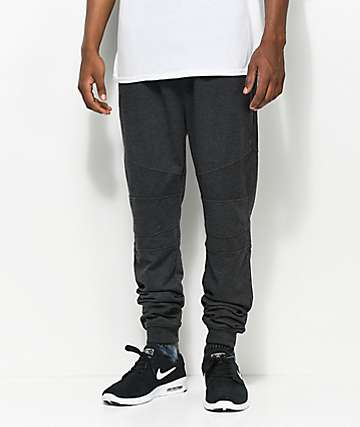 Ninth Hall Brute Charcoal Moto Knit Jogger Pants