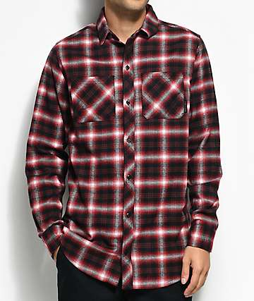 Ninth Hall Lank Red & Black Flannel Shirt