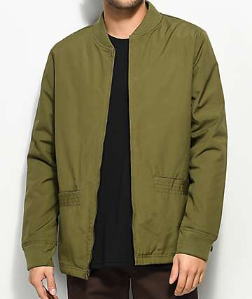 Ninth Hall Milton Olive Green Bomber Jacket