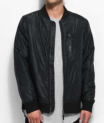 Ninth Hall Raptor Black Bomber Jacket