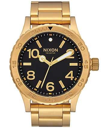 Nixon 46 All Gold & Black Analog Watch