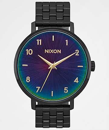 Nixon Arrow Black & Rainbow Analog Watch