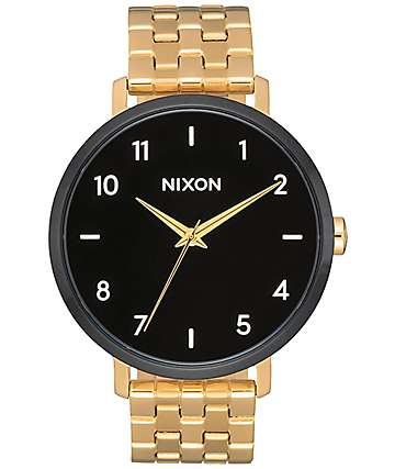 Nixon Arrow Gold, Black & White Watch