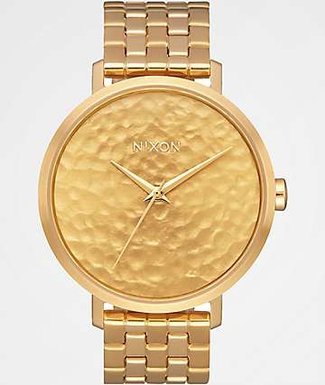 Nixon Arrow Gold Hammered Analog Watch