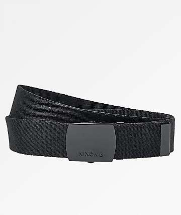 Nixon Basis Black Web Belt