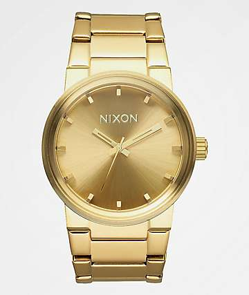 Nixon Cannon Gold Analog Watch