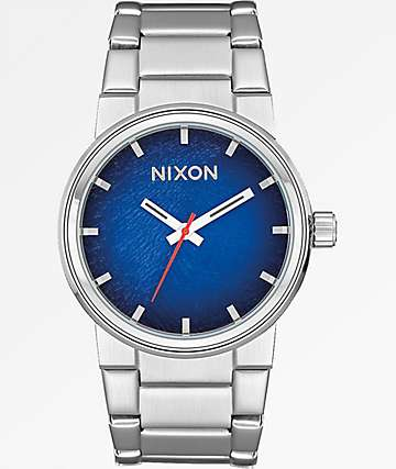 Nixon Cannon Reflex Blue Sunray Watch