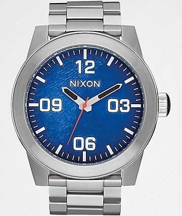 Nixon Corporal SS Reflex Blue Sunray Analog Watch