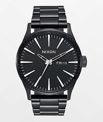 Nixon Sentry SS All Black Analog Watch