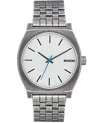 Nixon Time Teller Silver Antique Watch