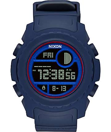 Nixon x Primitive Super Unit Blue Digital Watch