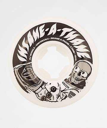 OJ Universal Insaneathane 53mm 101a White Skateboard Wheels