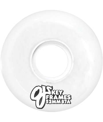 OJ Wheels Plain Jane White 87a 52mm Skateboard Wheels