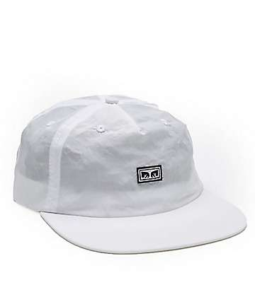 Obey Ashbury White Five Panel Hat