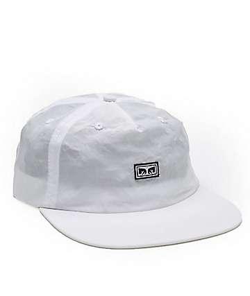 Obey Ashbury White Five Panel Hat