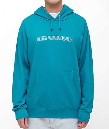 Obey Automatic Teal Hoodie