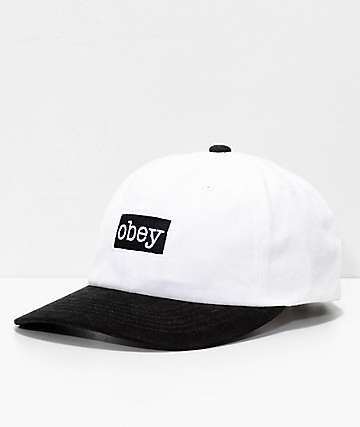 Obey Brooks Black & White Snapback Hat