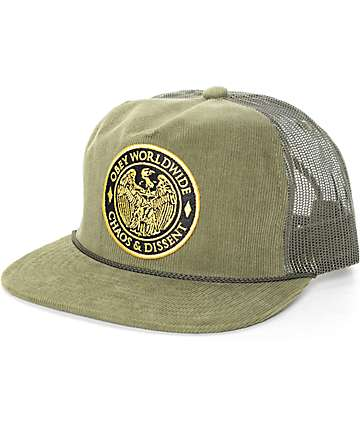 Obey Chaos Olive Trucker Hat