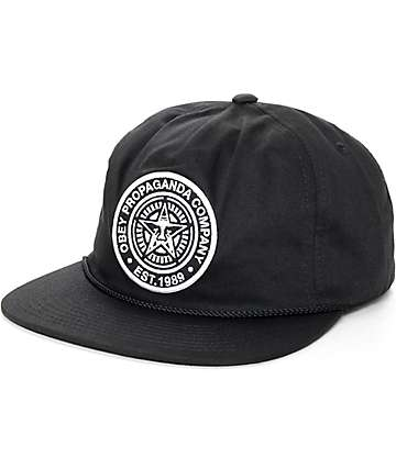 Obey Commissioners Black Snapback Hat