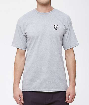 Obey Creeper Embroidery Grey T-Shirt