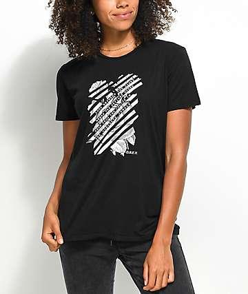 Obey Defiant Rose Black T-Shirt
