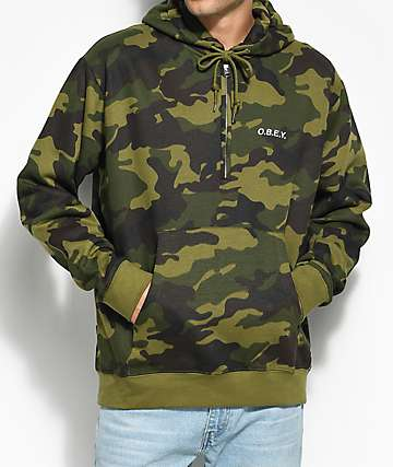 Obey Ennet Camo Anorak Hoodie